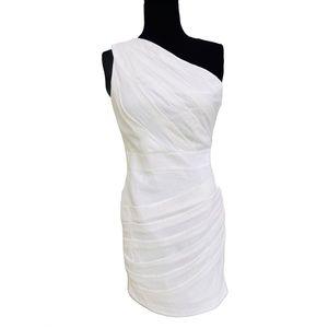 Aryn K White Cotton Halter Sleeveless Dress Sz M